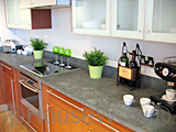 Show home kitchen countertop detail picture