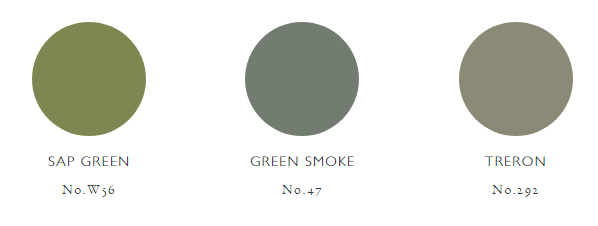 Farrow and Ball Colours Green Palette
