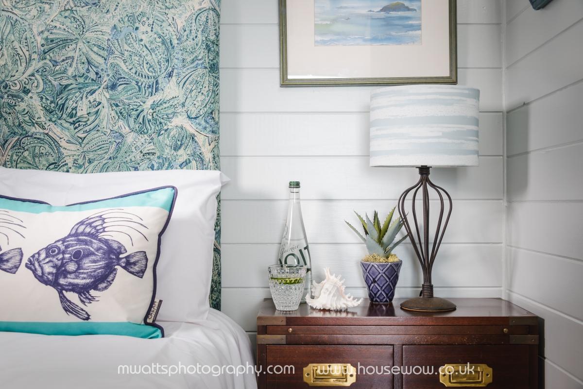 Anita Richardson styling holiday home bedroom