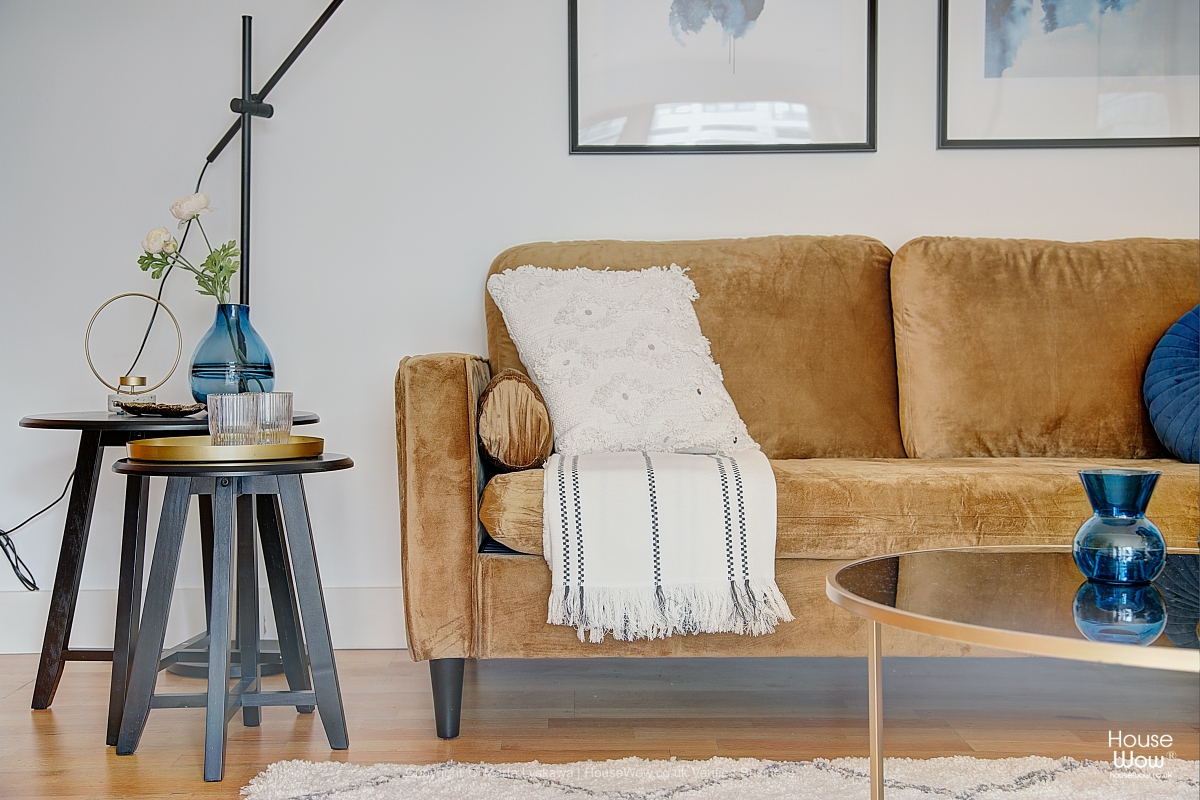 Lounge apartment Home Staging to sell in Leeds