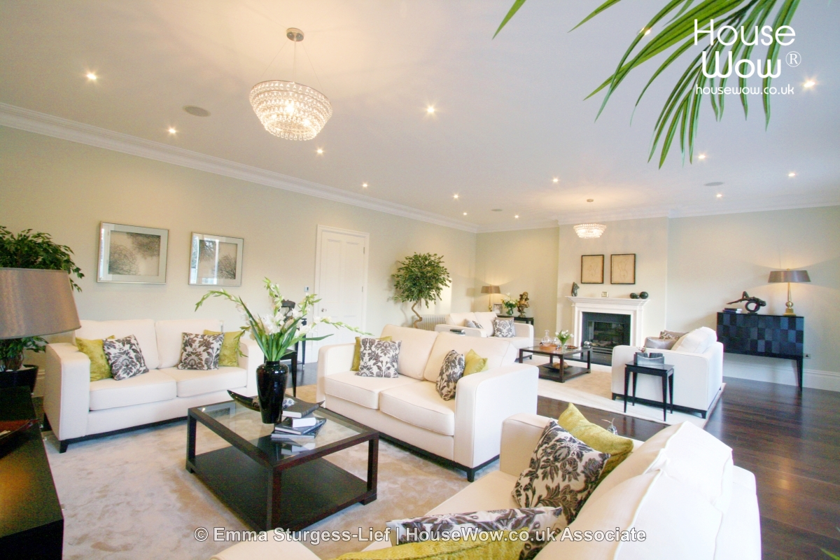 Home Staging lounge Example - This is an example of a customers lounge which has undergone Home Staging in order to increase the properties buyer appeal