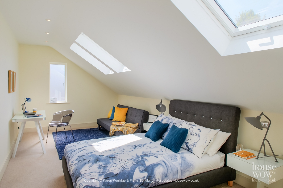 Atic bedroom Show Home