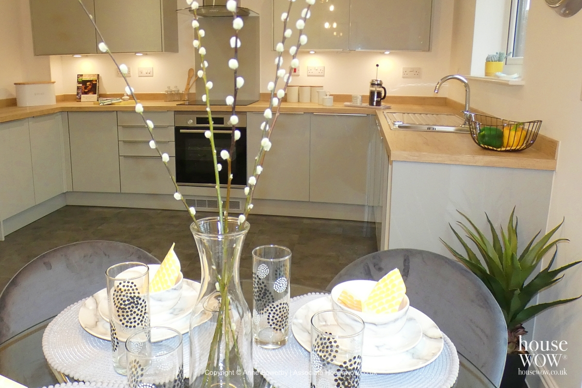 A Showhome dining table setting