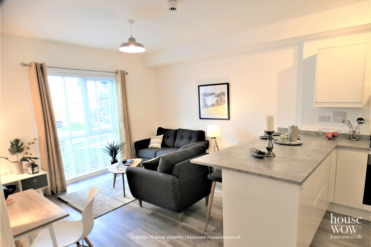 Flat open plan Staging dressed