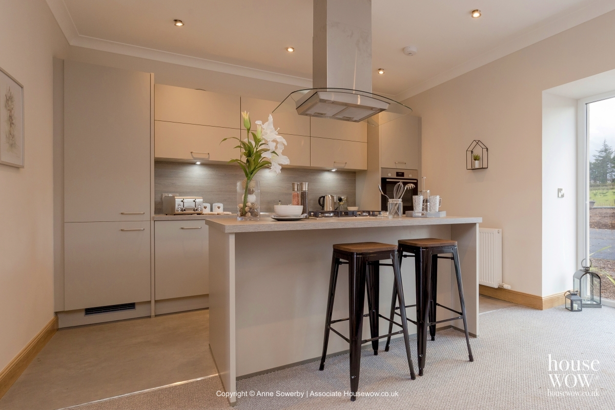 A kitchen staged to sell