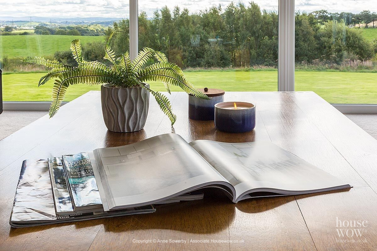 Books styled in Staging to Sell