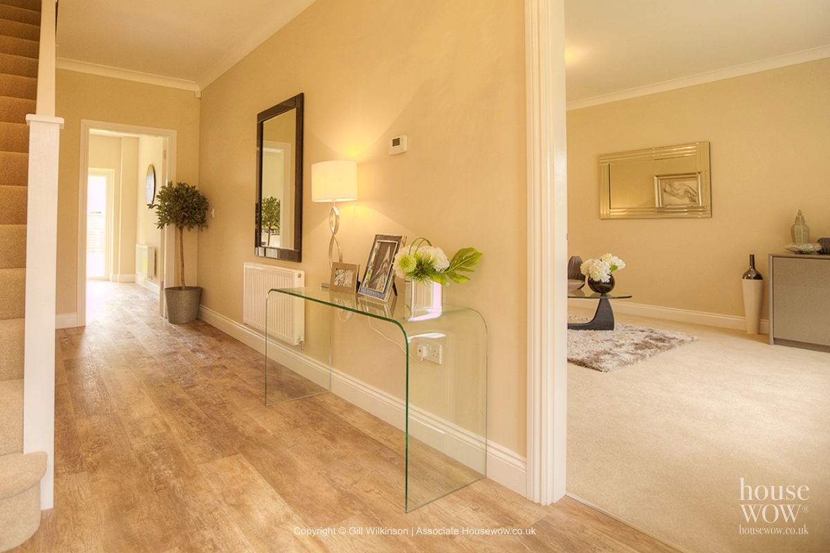 Hallway home staging example