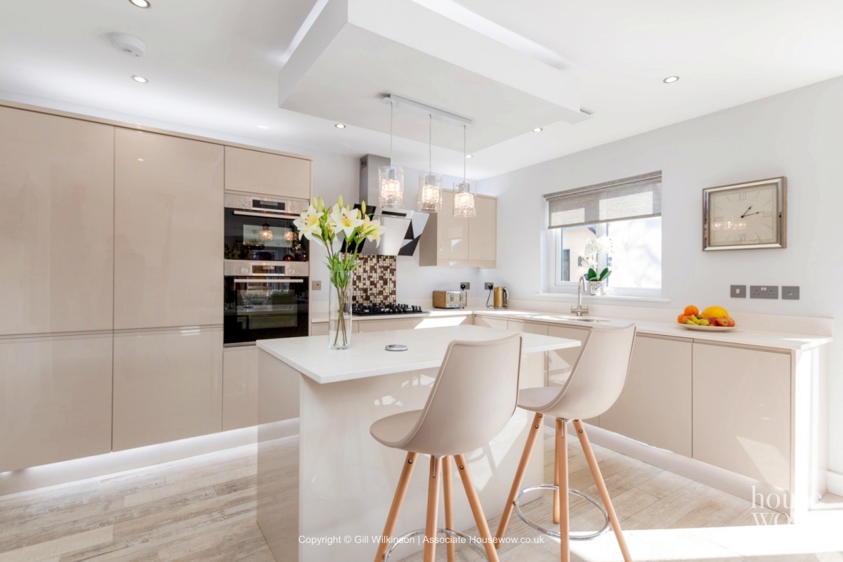 Show Home with a kitchen island