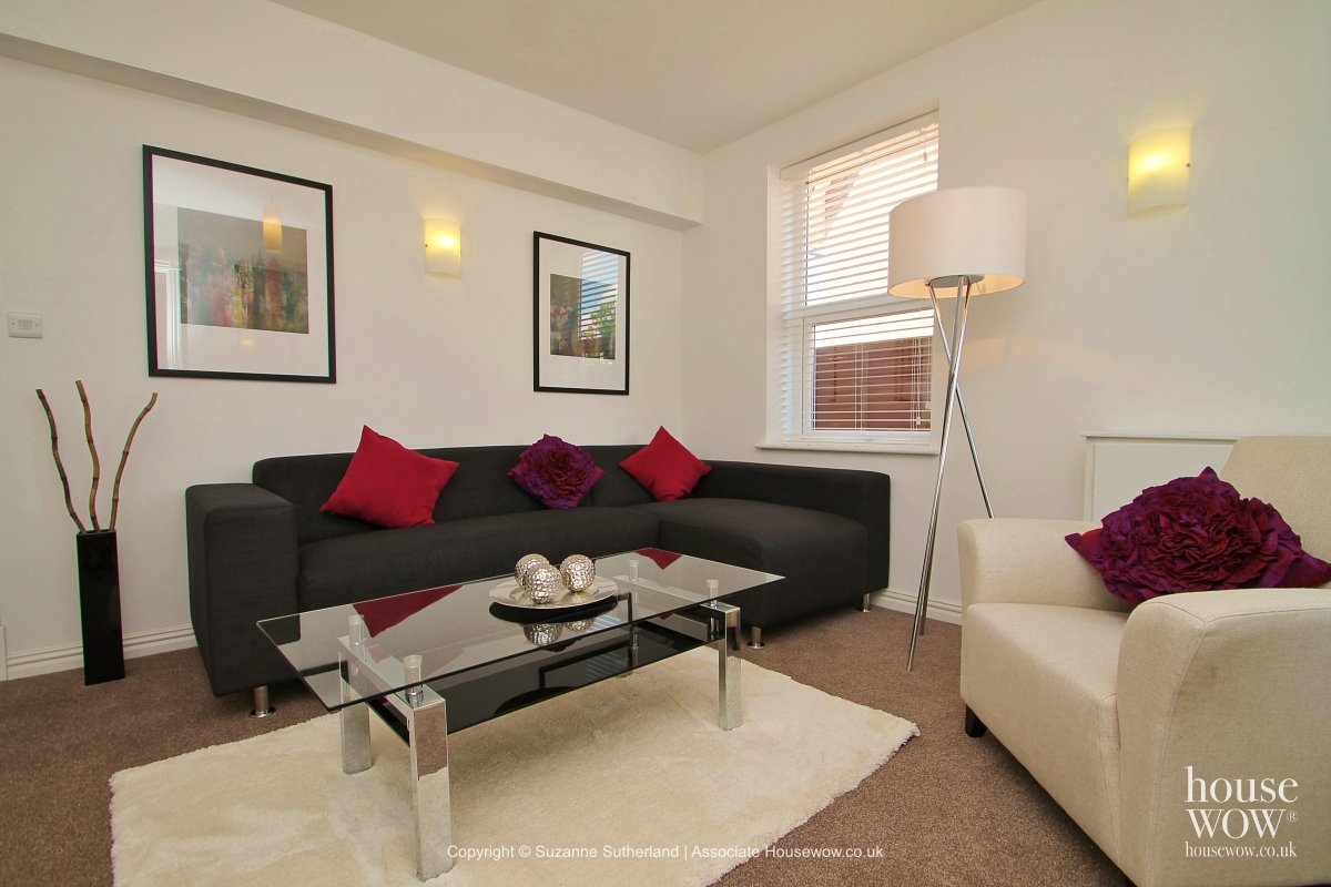 Sitting Room after Home Staging using rental Furniture Rental