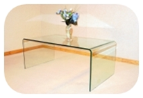 4. perspex coffee table also in stacking nest of tables