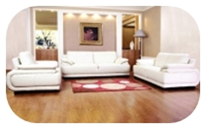 Leather 3 piece sofa in white, brown or black