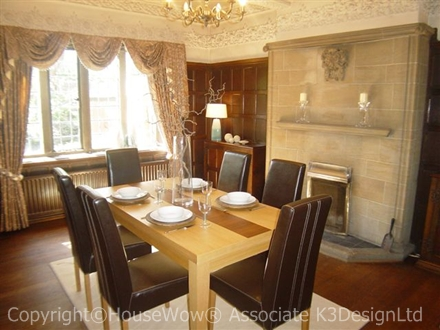 Show Homes Dining room example