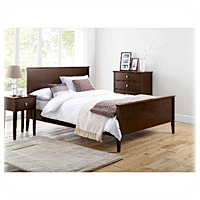 Mattress size image - double mattress on a double bed frame