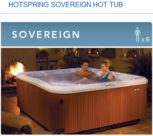 Hot tub reviews picture of sovereign hot tubs
