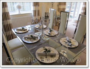 Show home dining room detail