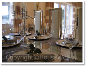 Show home dining table setting
